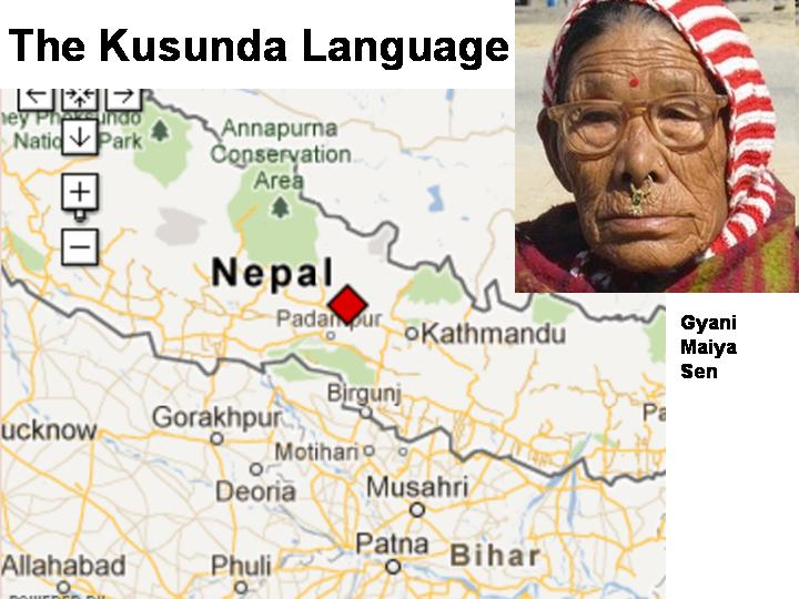 Kusunda, a language like no other?