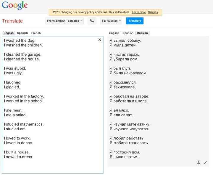 Google Translates Gender