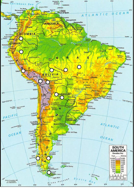 South America Ejectives Elevation Languages Of The World