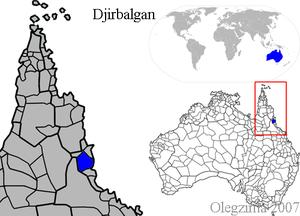 Djirbal map